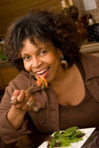 Woman eating a healthy diet