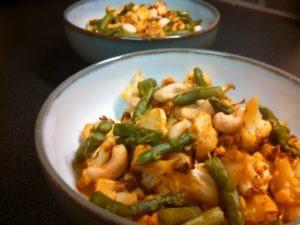 tofu veggie curry bowl